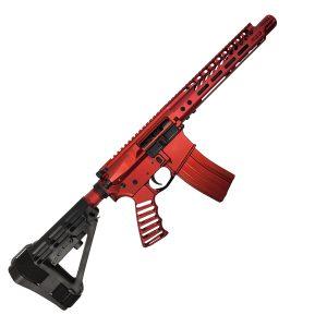 Full Red AR-15 Pistol 5.56 with SBA4 Brace