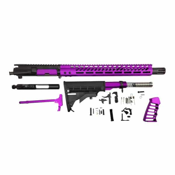 AR-15 Anodize Purple Full Rifle Build Kit in 5.56